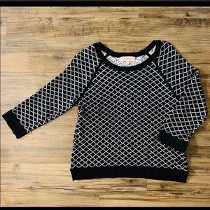 Philosophy Black & White Cotton Sweater SZ Large